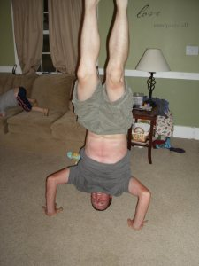 This guy can still do a handstand!