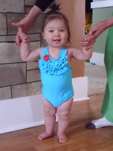 Going swimming for the first time last year