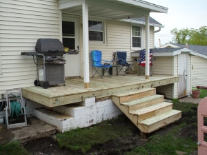 Semi-finished stairs