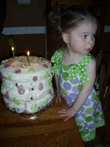 Leaning cake...