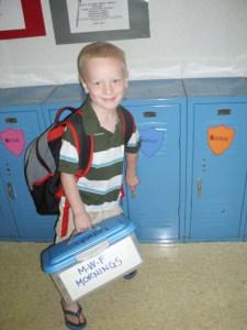 Loves having a locker to himself!