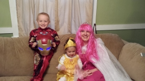Ironman, Princess Belle, and The Sassy Fairy Godmother ;)