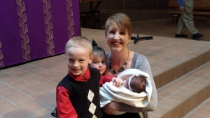 Aunt Mel and her 3 Godchildren