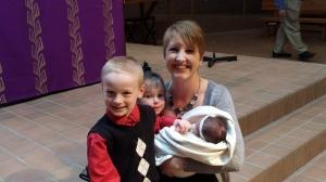Aunt Mel and her 3 Godchildren