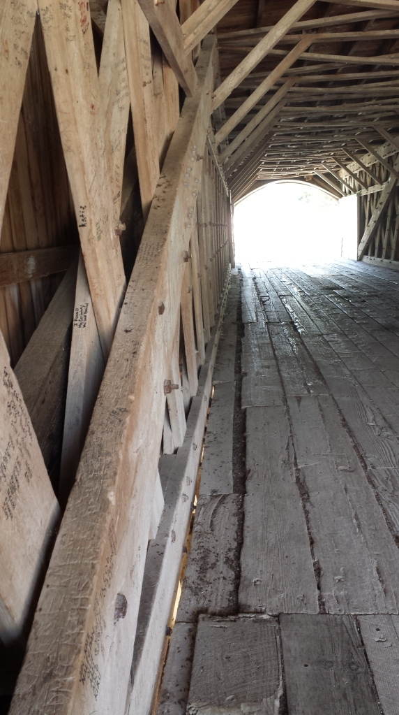 Inside of the bridge. Built over 120 years ago