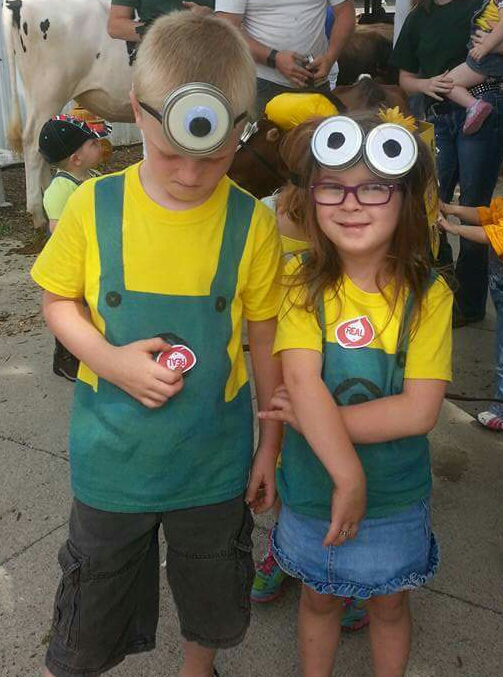 A minion pair, one of which does not like pictures