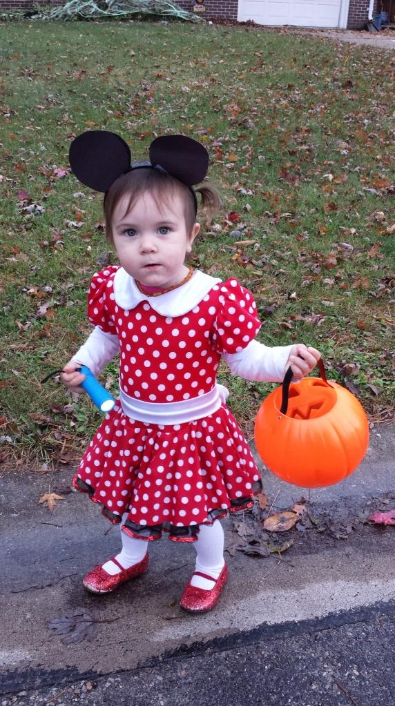 Minnie wasn't too fond of her ears